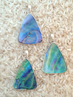 Paua Abalone Pendant Teardrop Medium-Large w/ No Stones